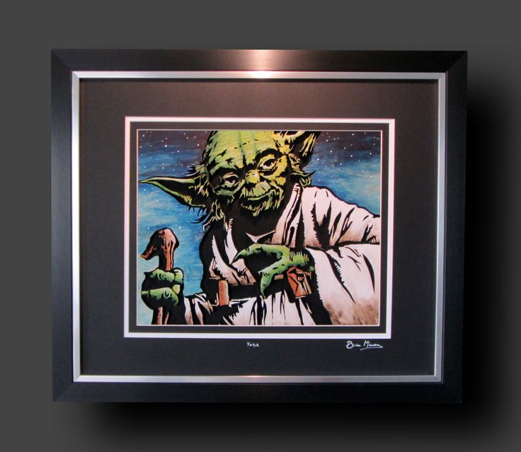 """Yoda. 24"""" x 21"""". Mixed media - cut from 9mm Birch and finished using acrylics, inks and pyrography. £110.00."""