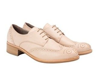 Beige brogues at habbot www.habbotstudios.com Spring Summer 2015 #inhabbot #brogue