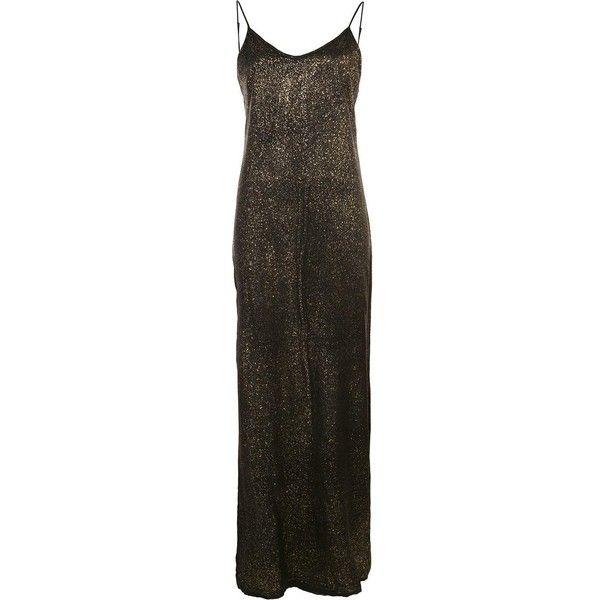 Rta metallic maxi dress ($637) ❤ liked on Polyvore featuring dresses, black, maxi dress, metallic maxi dress, maxi length dresses, silk maxi dress and metallic dress