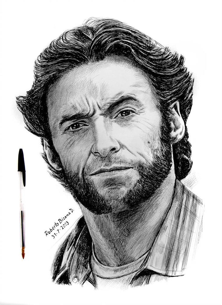 wolverine by RobertoBizama | Portrait sketches, Celebrity ...