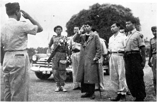 General Sudirman came back from guerrilla war against Dutch forces 1949