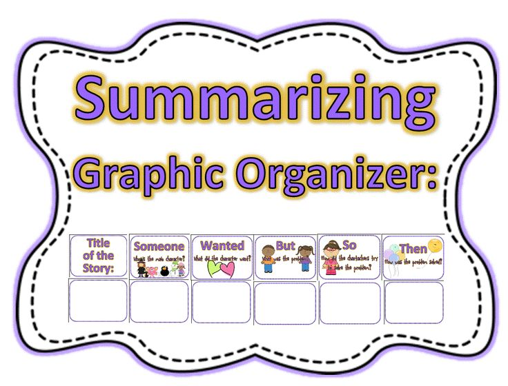 Plug any book into this graphic organizer to teach kids to summarize.