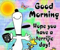 Snoopy Kaffee schreckliches Tageszitat