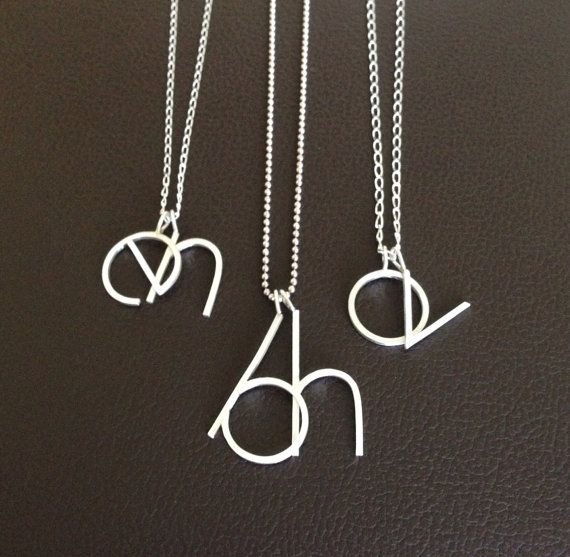 two initial necklace two letter necklace double initial necklace large letters necklace personalized necklace mom necklace silver