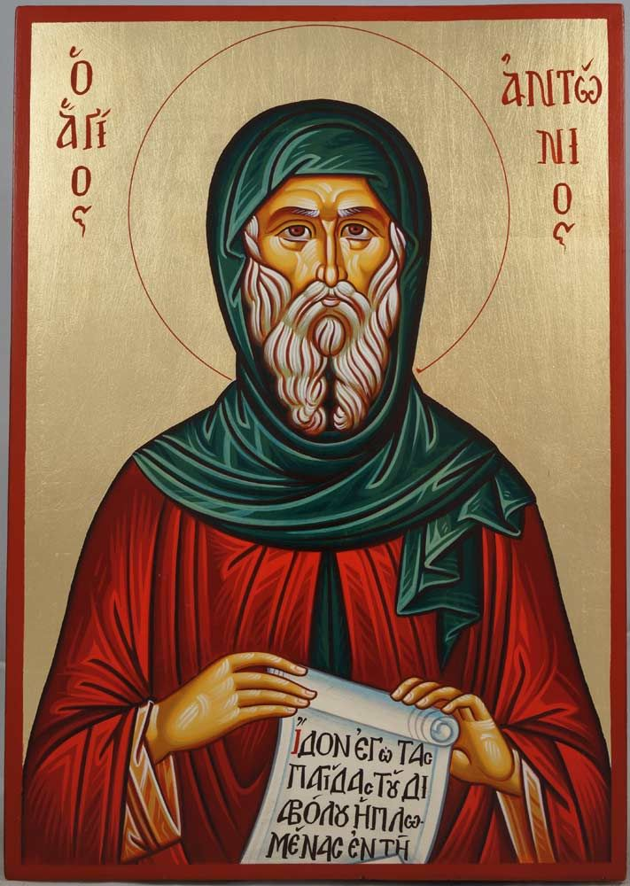 St Anthony of Egypt Hand-Painted Orthodox Icon St. Anthony, whom we celebrate today, is known as the father of western monasticism.