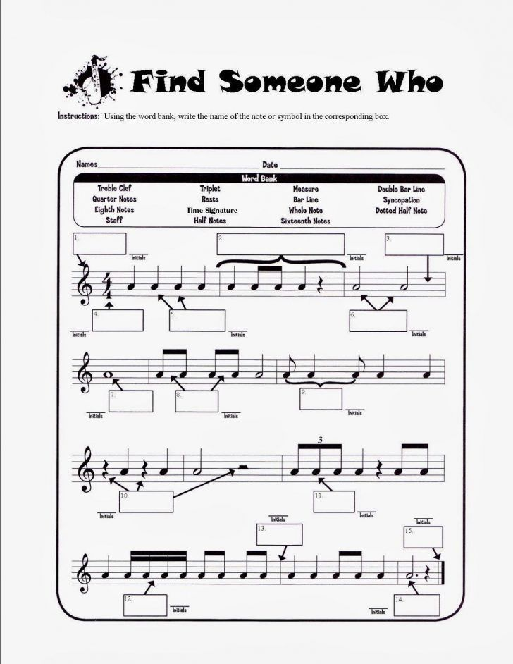 music theory worksheets for middle school pdf