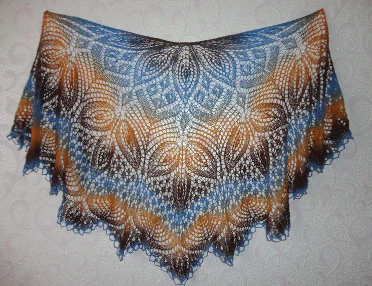 Шаль клематис – это невероятной красоты вязаное изделие, в основе которого лежит популярный моти...