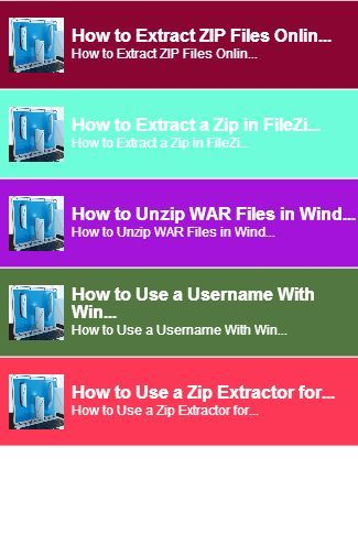 Zip File Extractor<br>In this App you can see this topic.<br>1. How to Extract ZIP Files Online<br>2. How to Extract a Zip in FileZilla<br>3. How to Unzip WAR Files in Windows<br>4. How to Use a Username With WinZip Self Extractor<br>5. How to Use a Zip Extractor for Vista<br> And you can see the Video and Game<br>keyword : Zip File Extractor