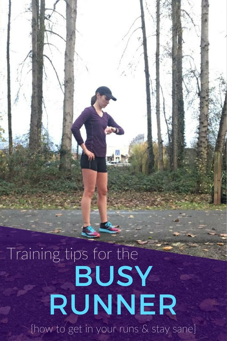 Feel like you're too busy to pursue your running goals? These tips for training on a busy schedule plus commitment and creativity will make it happen!
