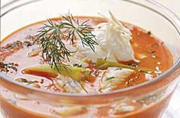 Fisksoppa (Swedish Fish Soup) a Classic Swedish recipe for a soup of fish fillet pieces in a tomato, cream, onion and dill base