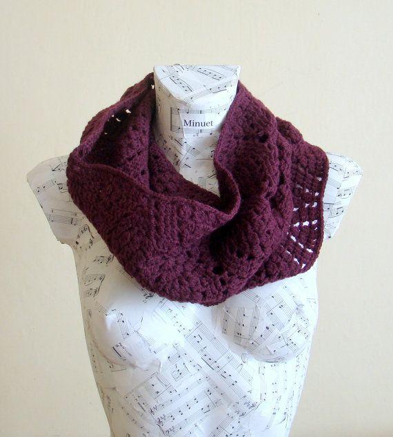 Handmade Purple Crochet Snood