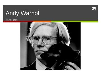This powerpoint gives a biography and pictures of Andy Warhol's art career…
