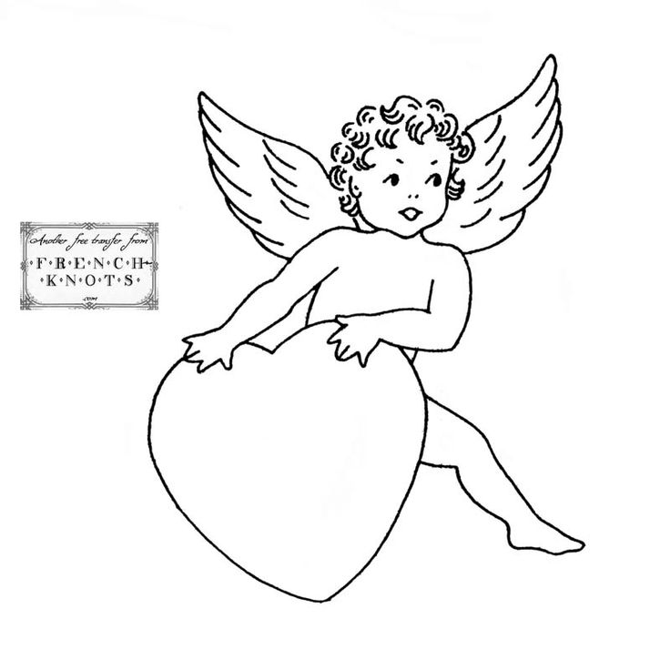 Поздравление днем, картинки купидонов и ангелов для распечатки черно белые
