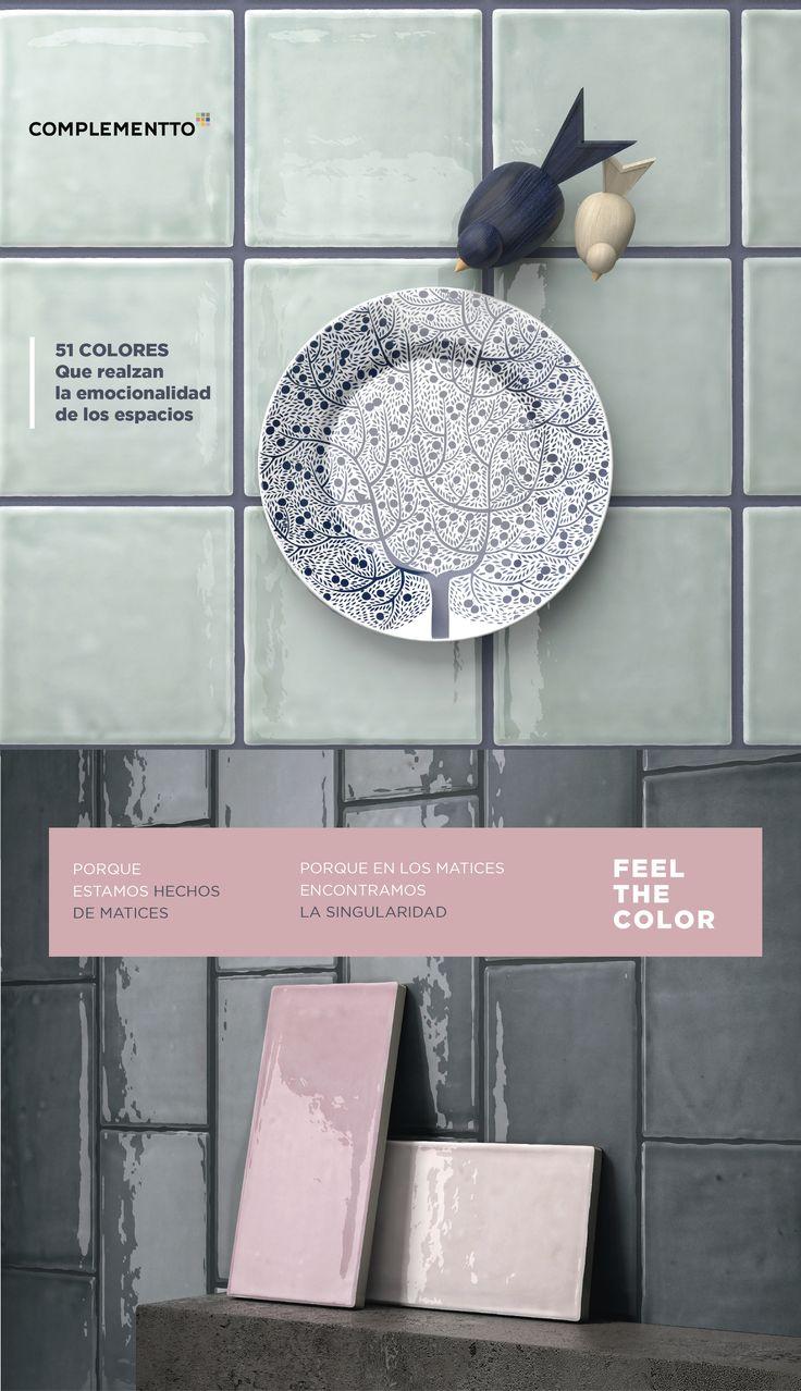 La emocionalidad del color | 51 motivos para emocionarte FEEL THE COLOR. Siente el color con todos sus matices #Cerámica #Interiorismo #Tiles