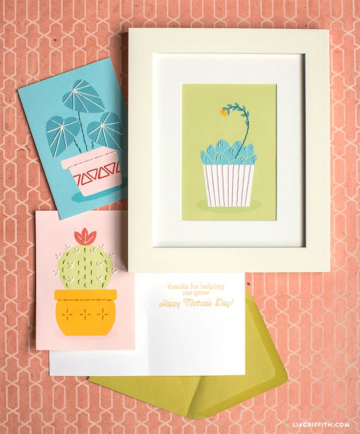 Mother's Day Sewing Cards