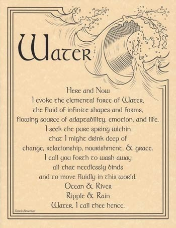 Water Evocation Parchment Poster or Book of Shadows Page   eBay