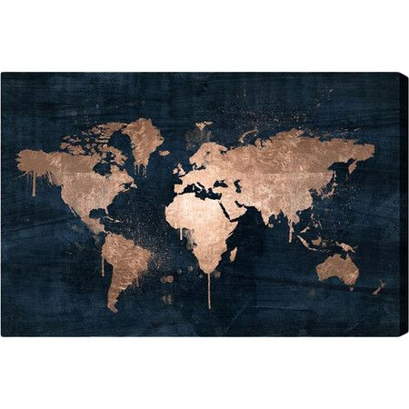 A lovely addition to your home office or study, this eye-catching canvas print showcases a gold map motif. Display on its own or nearby a globe for thematic ...