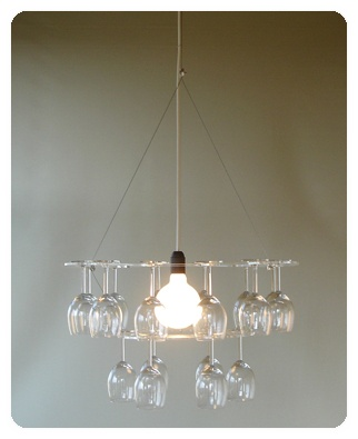 cool wine glass chandelier
