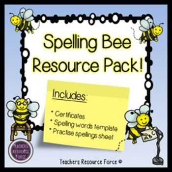 A spelling bee resource pack of templates that you and your students will love!