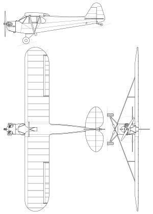 Piper J3 Cub.svg