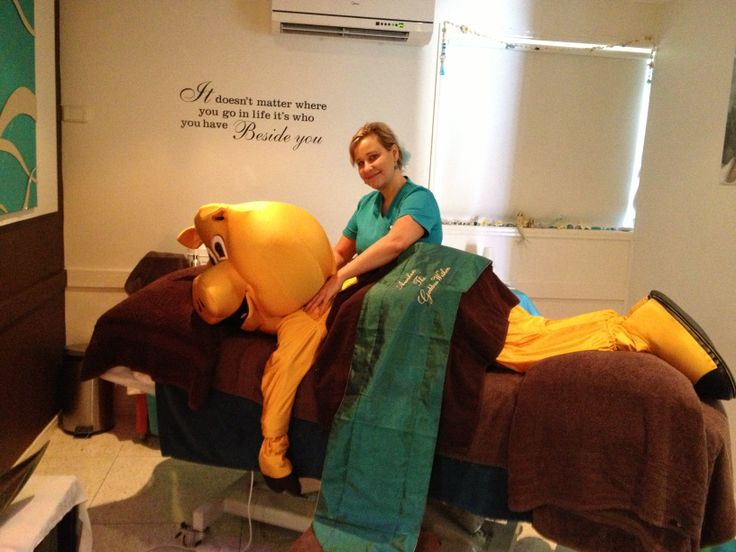 Piggy took a trip down to Seamist Day Spa and was treated to a relaxing massage!