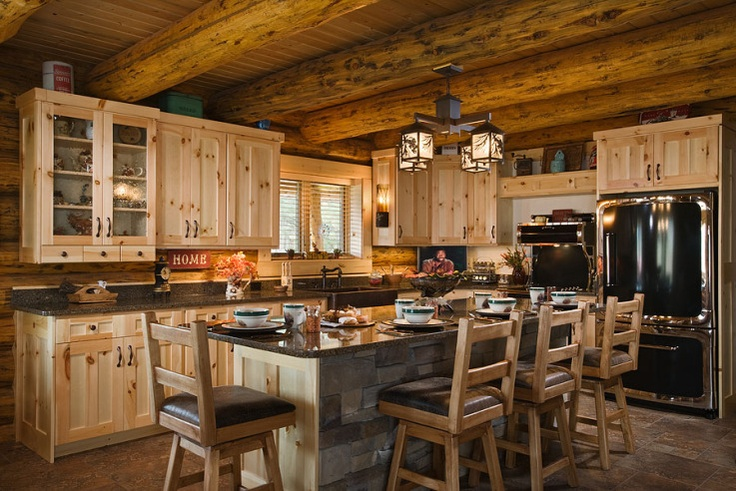 Best 25 log cabin kitchens ideas on pinterest log home for Wide open country cabins