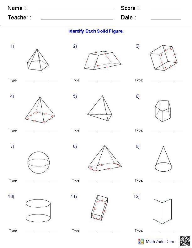 Math Volume Worksheets Grade 7 In 2020 Geometry Worksheets Volume Worksheets Math Worksheet