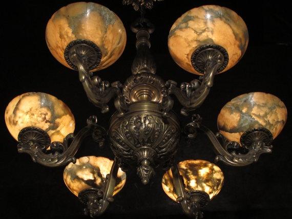 17 Best images about Bronze Alabaster – Antique Alabaster Chandelier