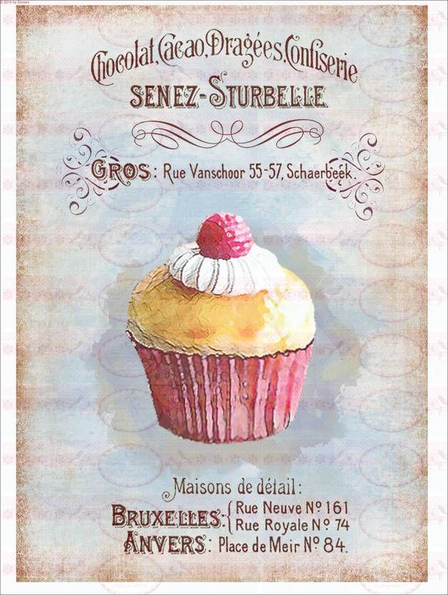 bgelbilder vintage shabby chic cupcake kuchen 1531 ein designerstck von doreens bastelstube bei - Shabby Chic Kuchen