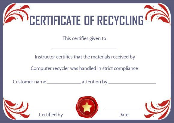 Destruction Certificate Archives   Certificate Templates