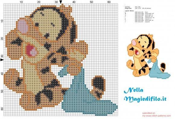 http://www.my-cross-stitch-patterns.com/tigger_friend_of_winnie_the_pooh.html #needlepoint