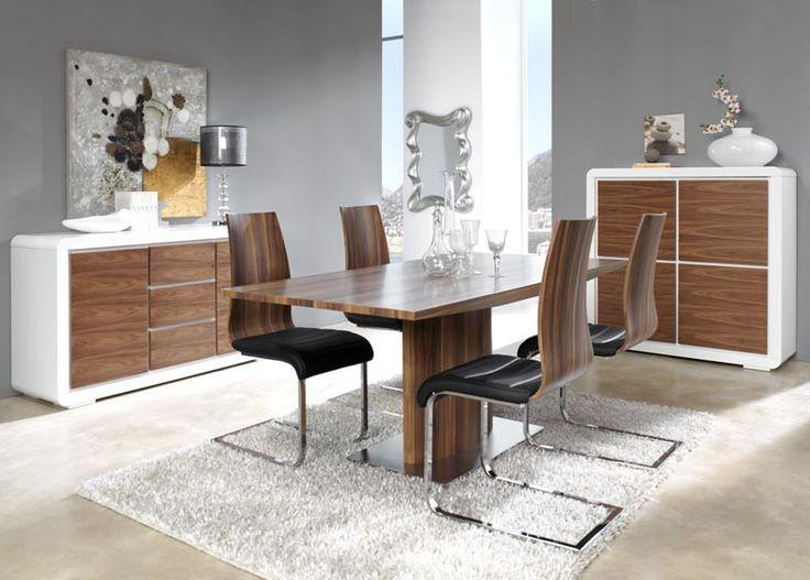Mesas de Salon-Comedor extensible en madera ALMATEA. Decoracion Beltran, tu tienda online en muebles de madera.