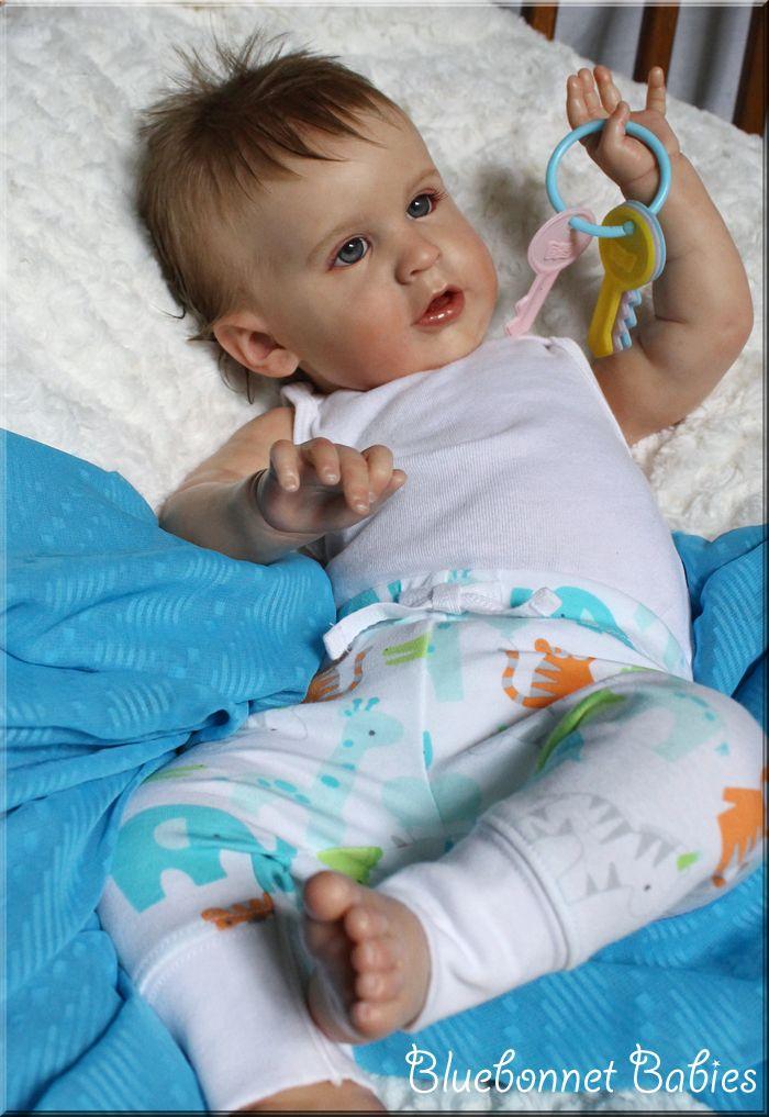 Reborn Baby Boy Realistic Doll By Bluebonnet Babies Reborn Baby Boy Cute Baby Dolls American Baby Doll