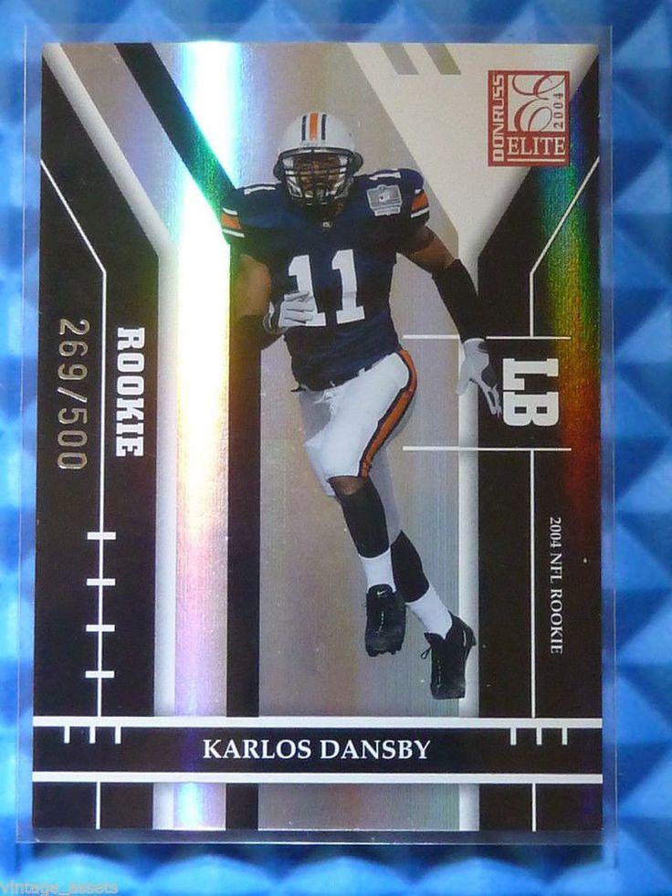 $1.99 2004 Donruss Elite KARLOS DANSBY Rookie Card RC #155 #269/500 Browns Auburn #ClevelandBrowns http://www.ebay.com/itm/2004-Donruss-Elite-KARLOS-DANSBY-Rookie-Card-RC-155-269-500-Browns-Auburn-/272255750038?ssPageName=STRK:MESE:IT