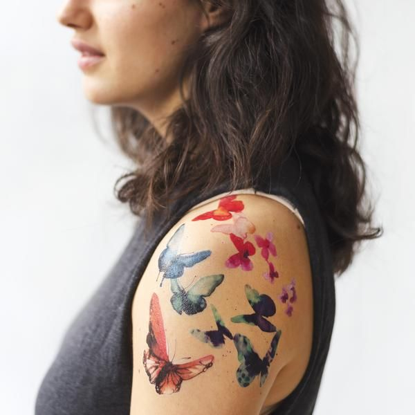 Our latest set of Tattly temporary tattoos by Stina Persson. Beautiful Watercolor Butterflies, perfect for summers days!