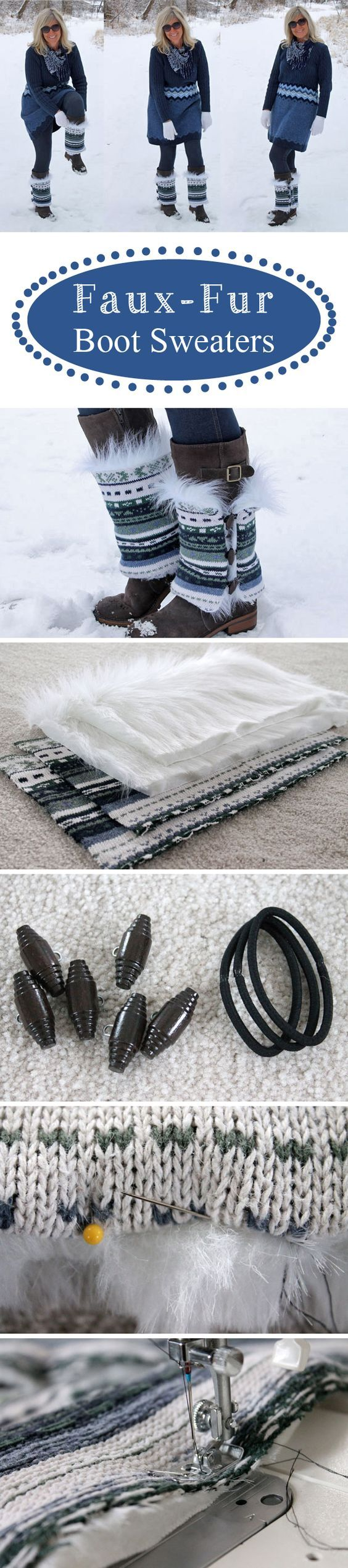 Dress up your boots with these adorable faux-fur boot sweaters! Simple to make and can go over any pair making them versatile http://www.ehow.com/ehow-crafts/blog/diy-faux-fur-boot-sweaters/?utm_source=pinterest.com&utm_medium=referral&utm_content=blog&utm_campaign=fanpage