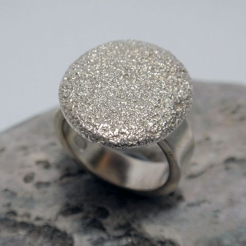 Nicole Verhoeven Textured Silver Ring – Unio Goldsmith