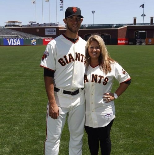 Madison Bumgarner and his cute little wife