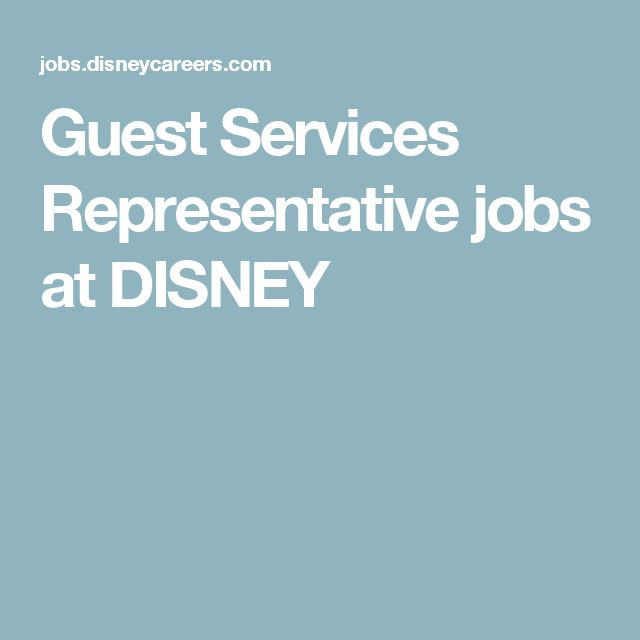 Guest Services Representative jobs at DISNEY