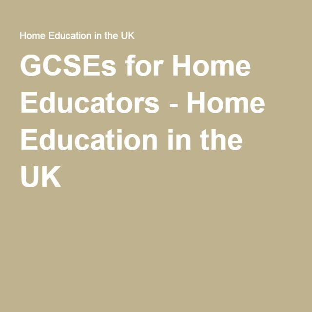 GCSEs for Home Educators - Home Education in the UK