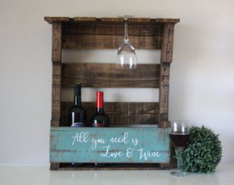 Christmas Gift Rustic Wine Rack Reclaimed Wood by JNMRusticDesigns