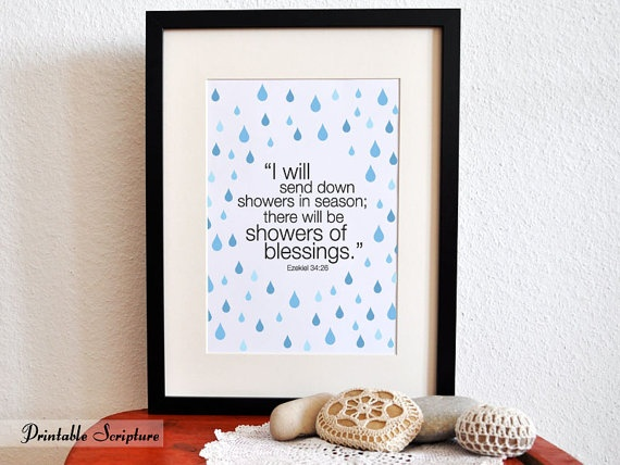 baby shower scripture art print 5 i will send down showers in