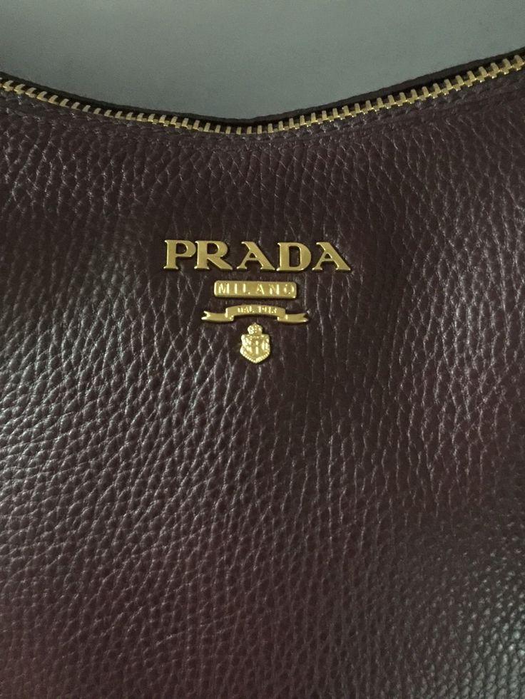Brand New Prada BR4992 Vitello Daino Leather Sacca 2 Manici Granato Handbag Hobo $899.0