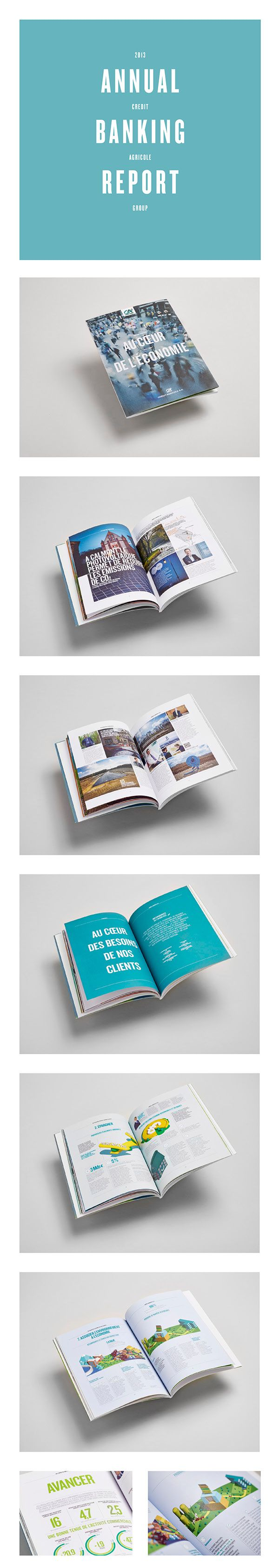 ANNUAL REPORT CREDIT AGRICOLE on Behance