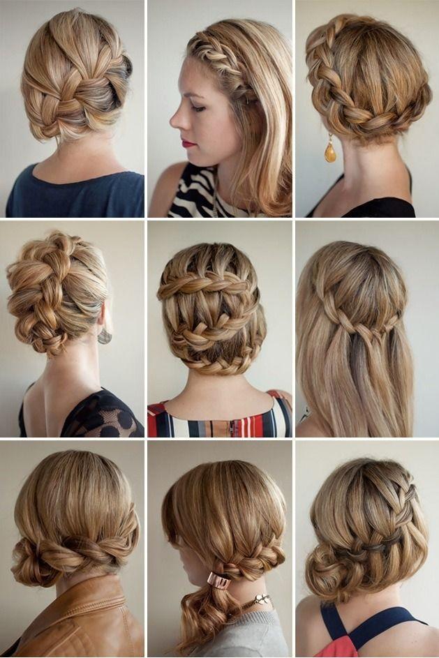 Updos/braids/twists/blond
