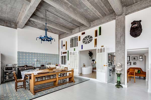 A London loft delights the senses with industrial-retro details