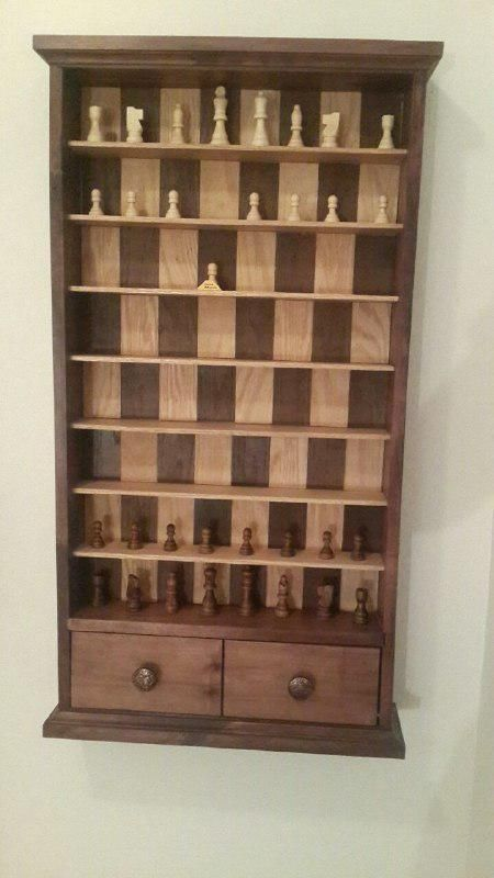 My dad made me a Vertical Chess Board for my Bday - Album on Imgur