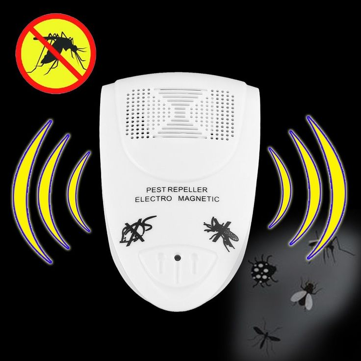 Ultrasonic Electronic Indoor Mosquito Repellent (Box of 5) (Repellent), White