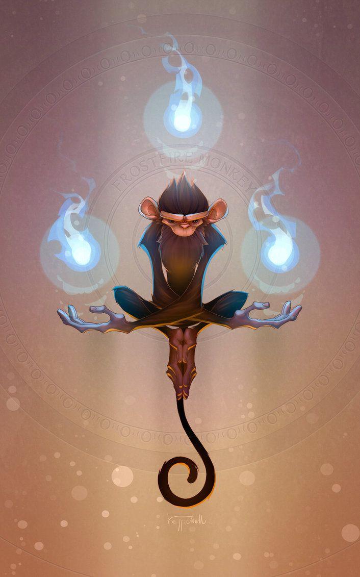 Frostfire Monkey by pierdrago.deviantart.com on @DeviantArt