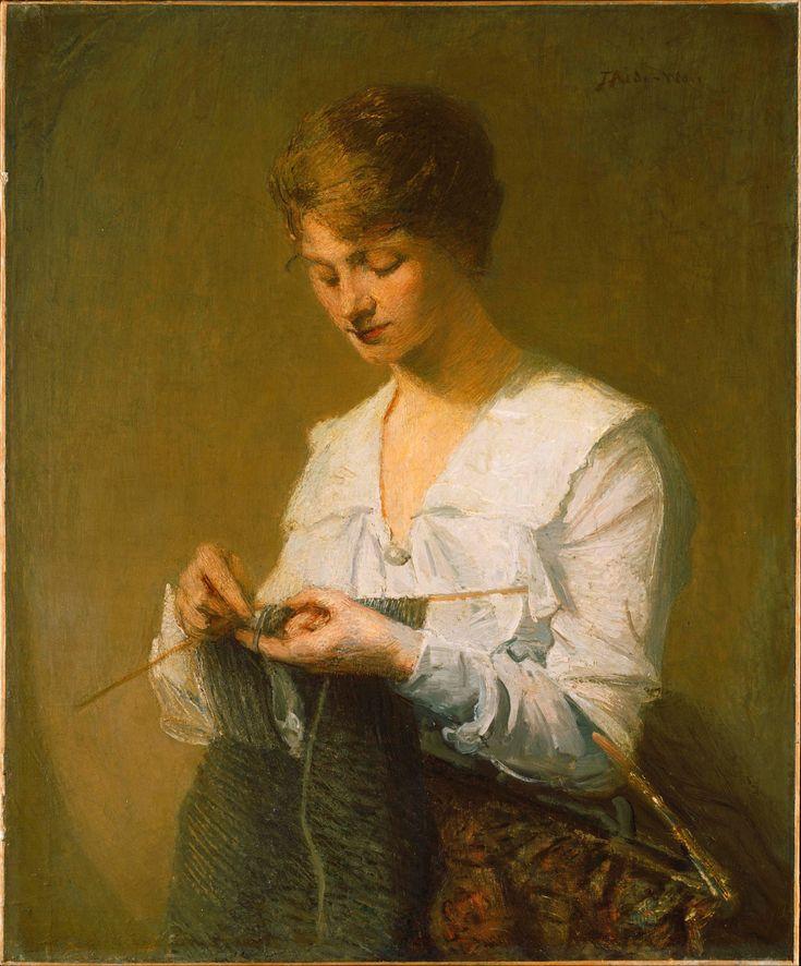 Julian Alden Weir - Knitting for Soldiers